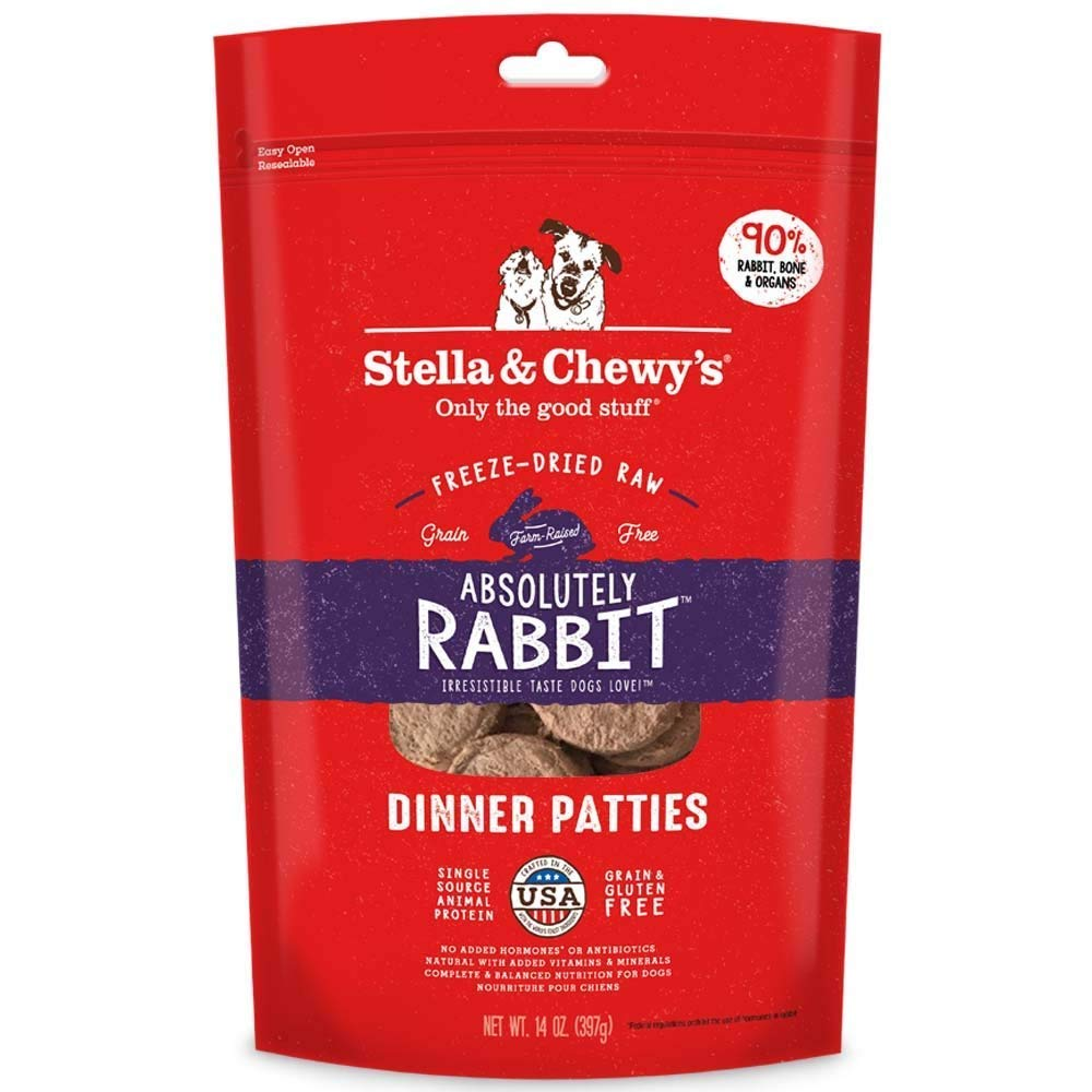 Stella and Chewy's Freeze-Dried Absolutely Rabbit Dinner Patties Dog Food (2 Pack) by Stella & Chewy's