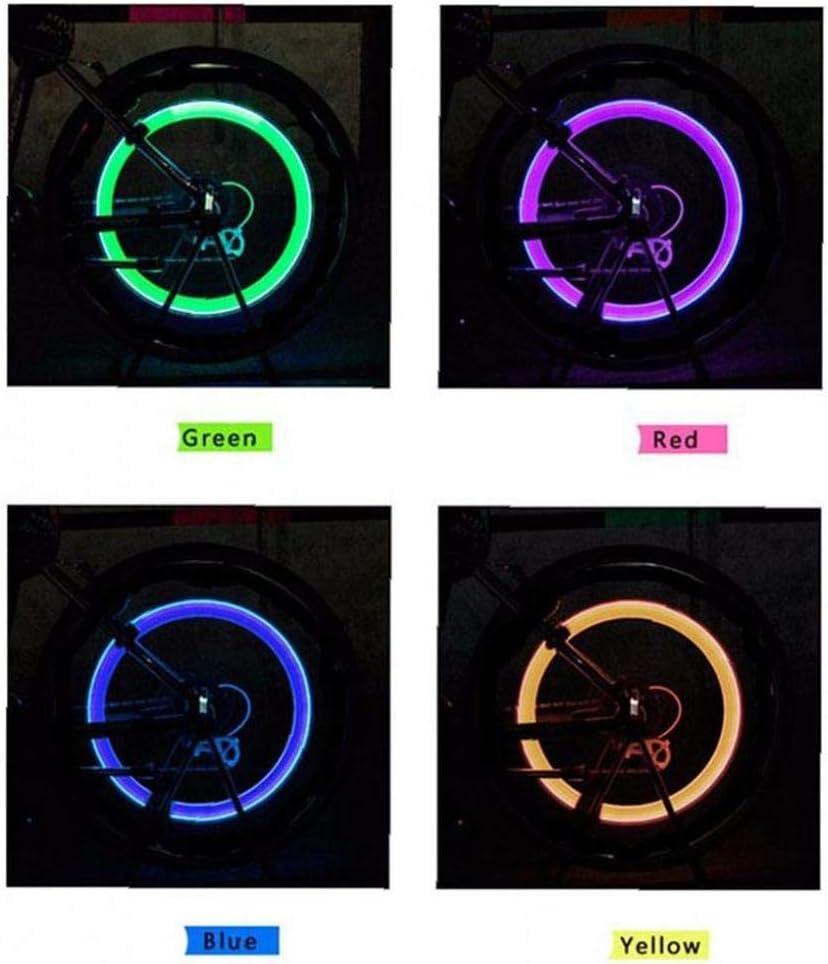 Luz Cap 2 Piezas de LED Verde de Destello del neum/ático v/álvula de la Rueda de la Bicicleta del Coche Rueda de Motorbicycle luz neum/ático de la luz