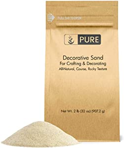 Pure Organic Ingredients Natural Decorative Sand (2 lbs) Real Sand for Use in Crafts, Decor, Vase Filler, and More!