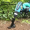 "ALIVING Auger Drill Bit Garden Plant Flower Bulb Auger 3"" x 12"" Rapid Planter with Garden Genie Gloves, Earth Auger Drill Bit for 3/8"" Hex Drive Drill, Bulb & Bedding Plant Auger"