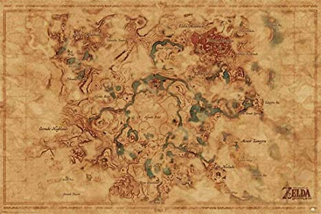 Pyramid America Zelda Breath of The Wild Hyrule Map Video Game Cool on