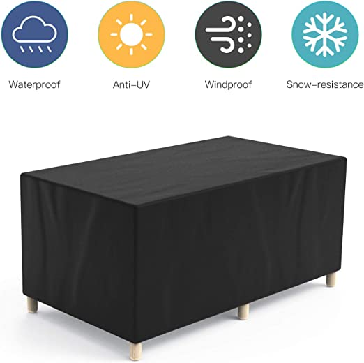 Govvay Cubierta de Muebles de Jardín Funda Protectora para Muebles Impermeable Anti-UV 420D Oxford Protección Exterior Muebles de Jardín Sofá, Mesa, Silla Negro(170x94x70cm): Amazon.es: Jardín
