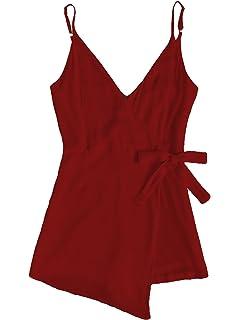 25353b62115 Amazon.com  Romwe Women s Casual Solid Jumpsuit Drawstring Waist ...
