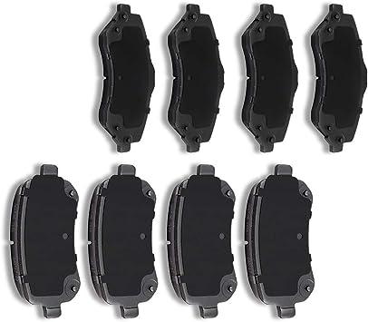 Premium High End Ceramic Front Brake Pad with Kit for Dodge Grand Caravan 2008 2009 2010 2011 2012 2013 2014 2015 2016