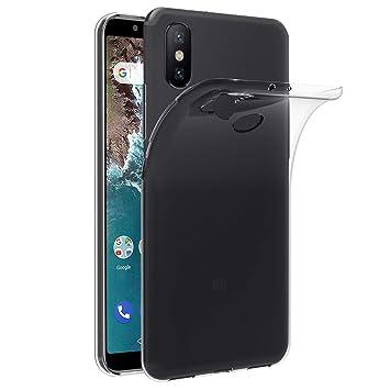 iVoler Funda Carcasa Gel Transparente para Xiaomi Mi A2, Ultra Fina 0,33mm, Silicona TPU de Alta Resistencia y Flexibilidad