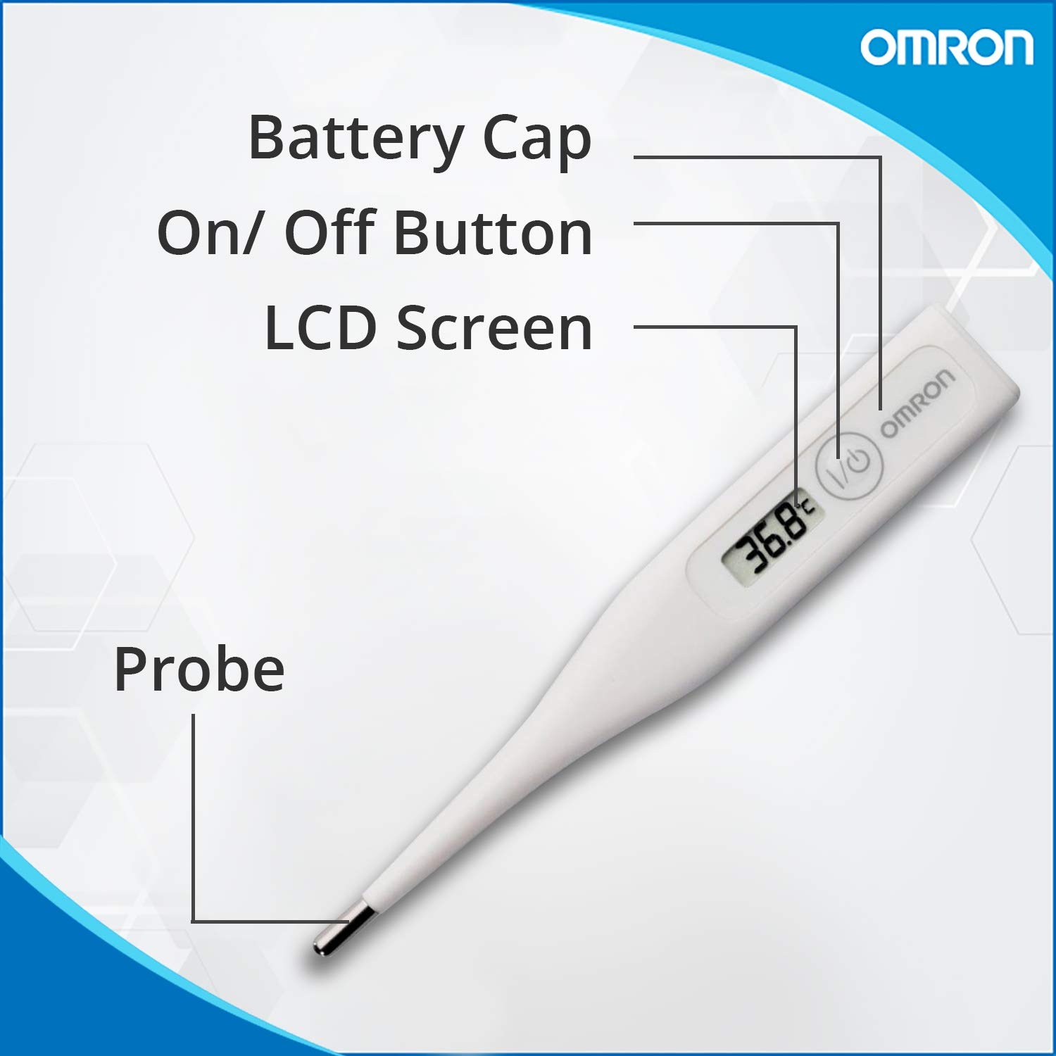 Omron MC-246 (MC246) 60 Second Digital Rigid Thermometer