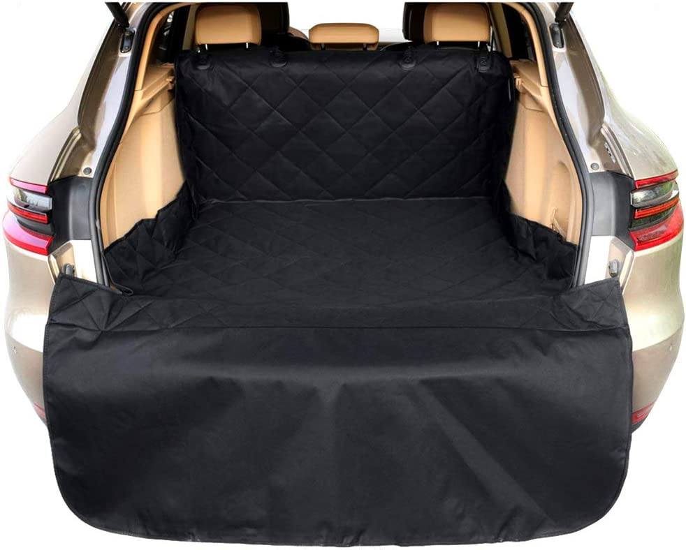 Arkmiido Pets Cargo Cover Liner for Dogs, Waterproof Dog Seat Cover Mat for SUVs and Cars with Extra Bumper Flap Protector,Machine Washable 80 x 52 Black -Universal Fit