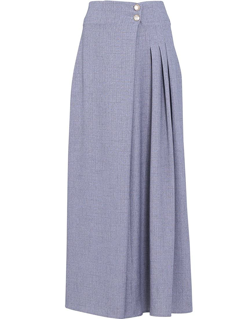 Victorian Skirts | Bustle, Walking, Edwardian Skirts EDZ Womens Pleated Long A-Line Soft Cotton Linen Modest Maxi Skirt $66.00 AT vintagedancer.com