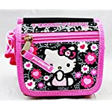 String Wallet - Hello Kitty - Black Flower Bow Girls Toys Kids New 84014