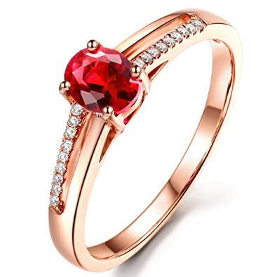 Amazon Com Purity Ring For Women Natural Ruby Gemstone Wedding