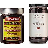 Luxardo Maraschino (400g) & Woodford Reserve (383g) Bourbon Gourmet Cherries