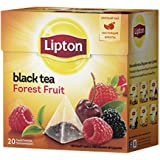 Lipton Black Tea - Forest Fruit - Premium Pyramid Tea Bags (20 Count Box) [Pack of 3] Imported