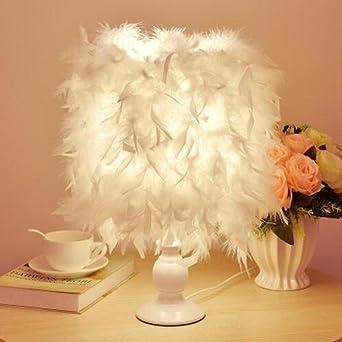 Feder Lampe, kreative Mode romantische Schlafzimmer Nachttisch Lampe ...