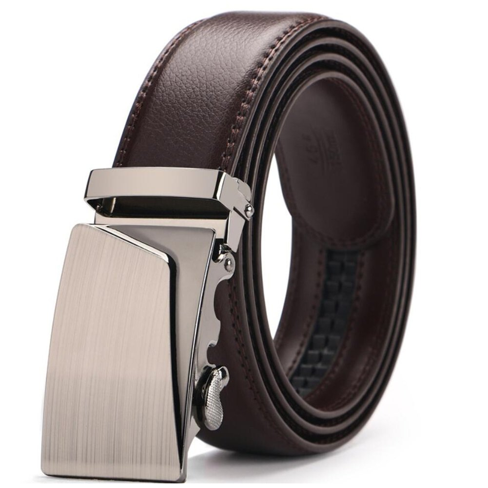 Automatic Buckle Belt XUEXUE Mens Belt Soft Business Belt,Casual Formal Belts,Comfortable Work Active Basic Leather,Adjustable Belt,Cowboy Wear /& Jeans Work Clothes Uniforms