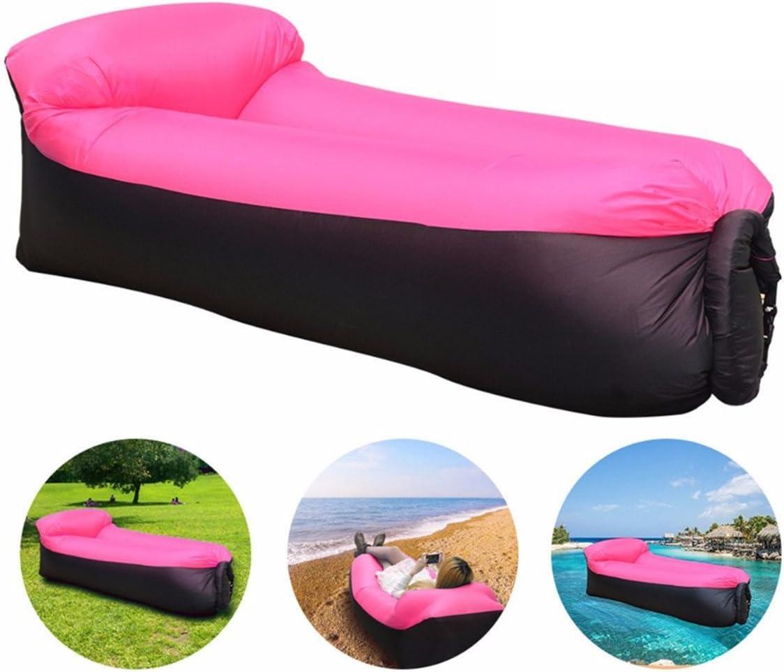 senderismo acampada playa parque patio jard/ín f/ácil inflado JINGOU Tumbona hinchable con bolsa de transporte para piscina