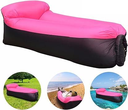 JINGOU - Tumbona hinchable con bolsa de transporte para piscina ...