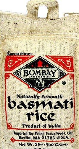 Bombay Rice Basmati White, 2 lb by Bombay Company