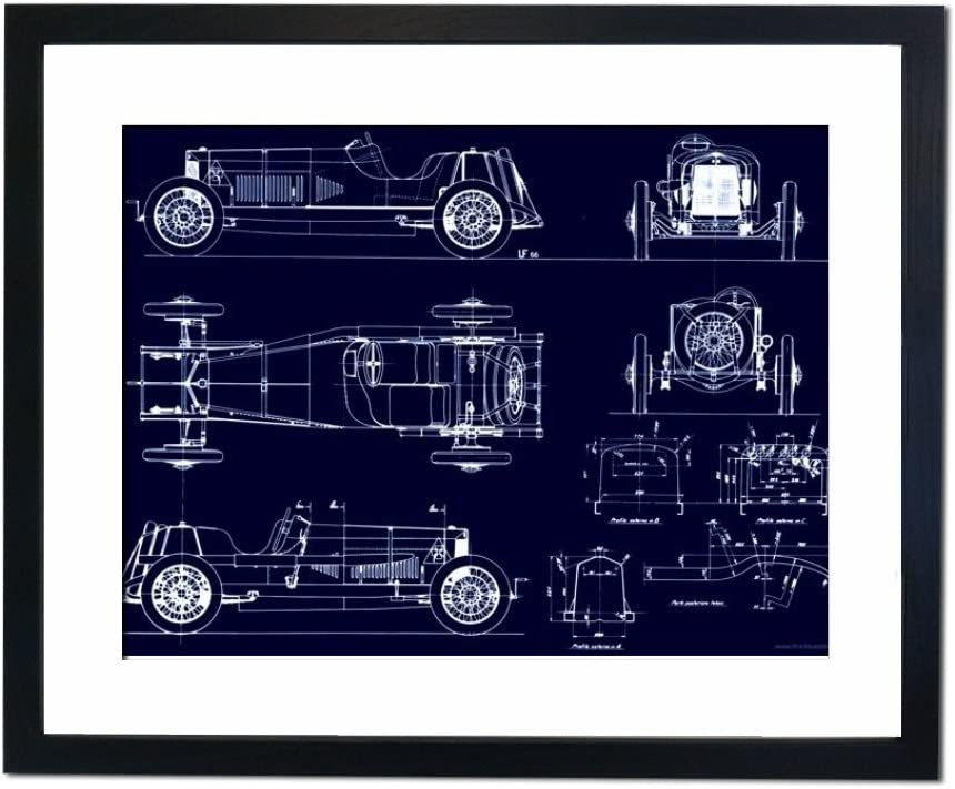 Culture Decor Alfa Romeo Targa Florio, 40 x 50cm, Blue