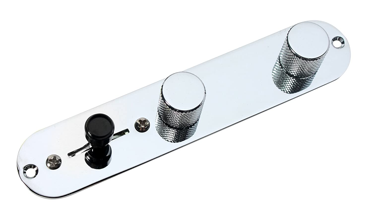 Amazon.com: Fender Esquire Tele Telecaster Eldred Mod Loaded 3 way Control  Plate, Chrome: Musical Instruments