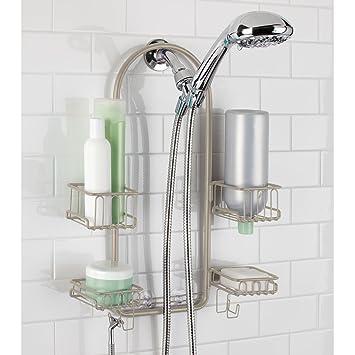 Amazon.com: mDesign Handheld Shower Head Shower Caddy - Satin: Home ...