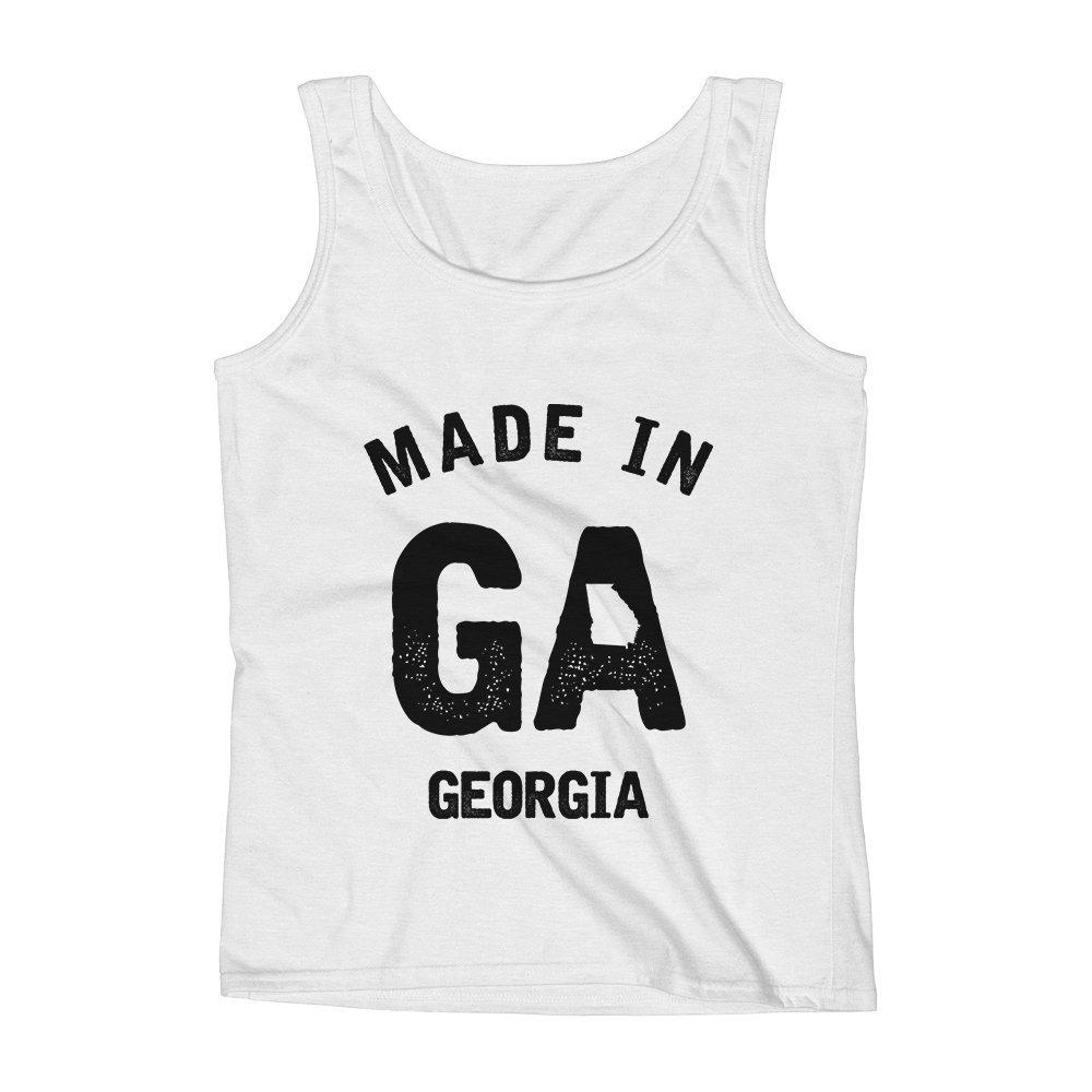 Mad Over Shirts Made in GA Georgia Unisex Premium Tank Top