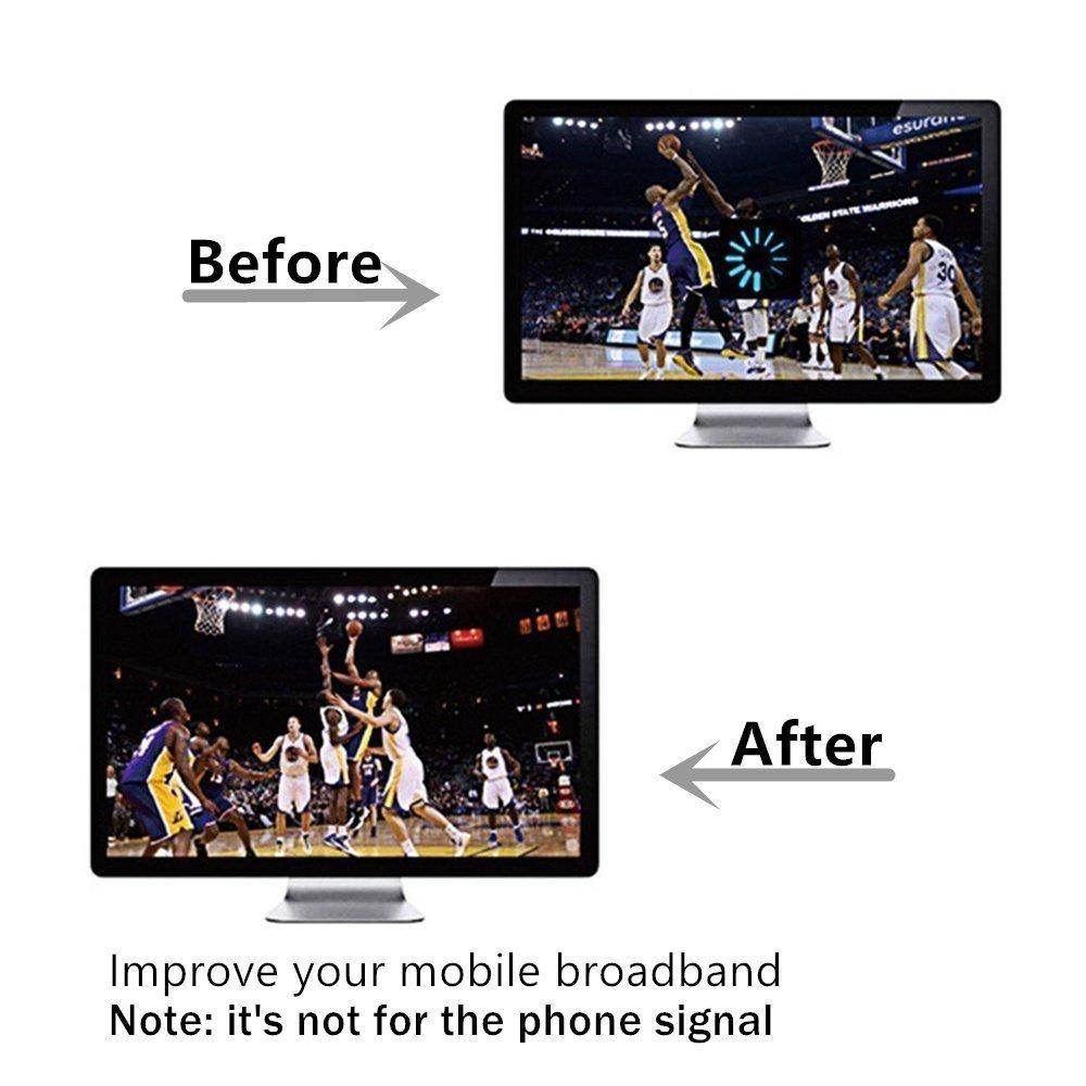 Antena CRC9, 4G LTE Antenna Dual 12dBi Alto Ganancia Red Ethernet Al aire libre Antena Receptor Amplificador Booster para Wifi Router Banda Ancha Móvil Andven SK-032