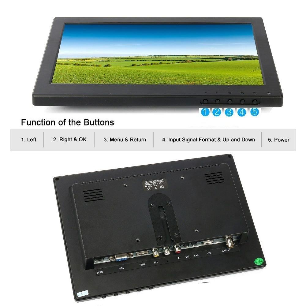 10.1'' HD USB Multi-Media Player IPS LCD 1280x800 HDMI AV BNC VGA TFT LED Monitor by YaeCCC (Image #5)