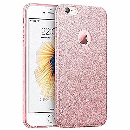 Hovisi Glitter Cubierta Protectora [Suave TPU Cover + Glitter Paper + Capa Interior de PP] para iPhone 6plus/6S...