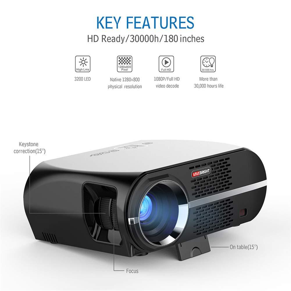 Amazon.com: Proyector, Proyector de Video 2800 Lux Mini ...