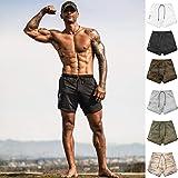 DIOMOR Fashion Outdoor 2 in 1 Shorts for Men Unique