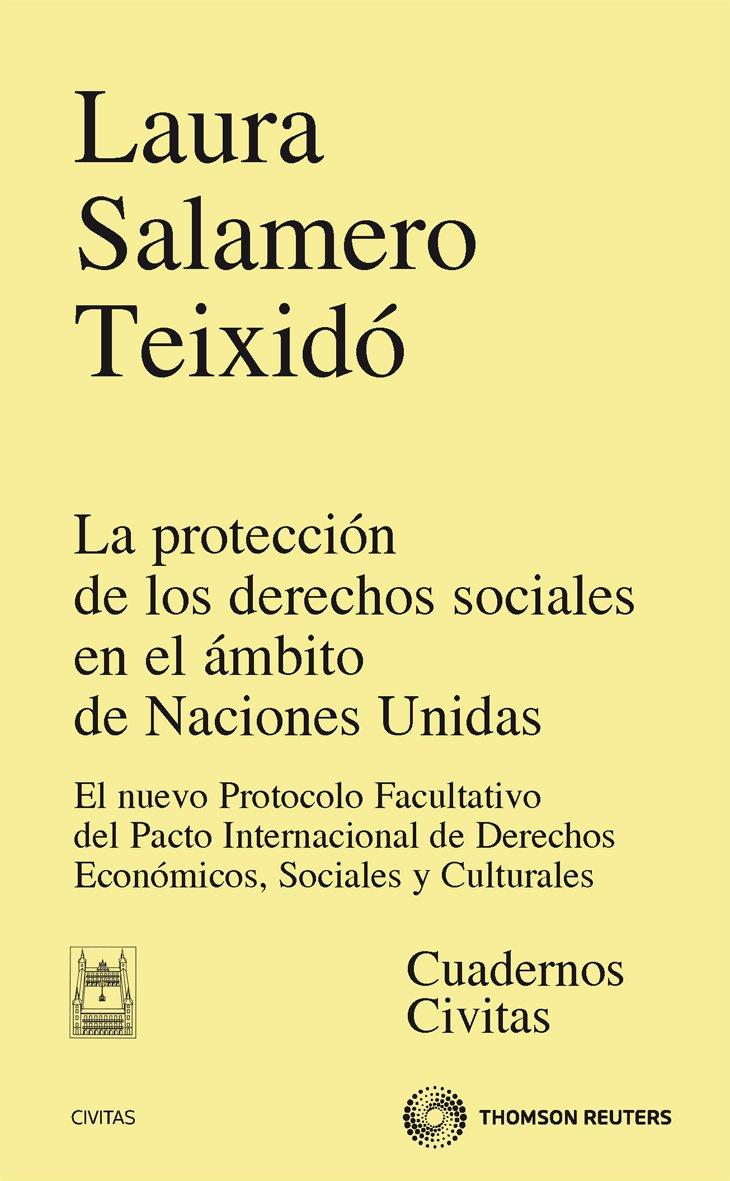 La protección de los derechos sociales en el ámbito de Naciones Unidas - El nuevo protocolo Facultativo del pacto internacional de derechos económicos, sociales y culturales (Monografía) Tapa blanda – 26 ene 2012 Laura Salamero Teixidó Civitas 8447038335 D