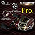 SHISHAMO Promote Baitcasting Reel 17+1 Ball Bearings Left Hand Right Hand Bait Casting Fishing Reels Coil Gear Ratio 6.3:1 Baitcasting Reel