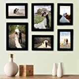 DEALZO Collage Polymar Wood Photo Frames (Set of 6, Wall Hanging)