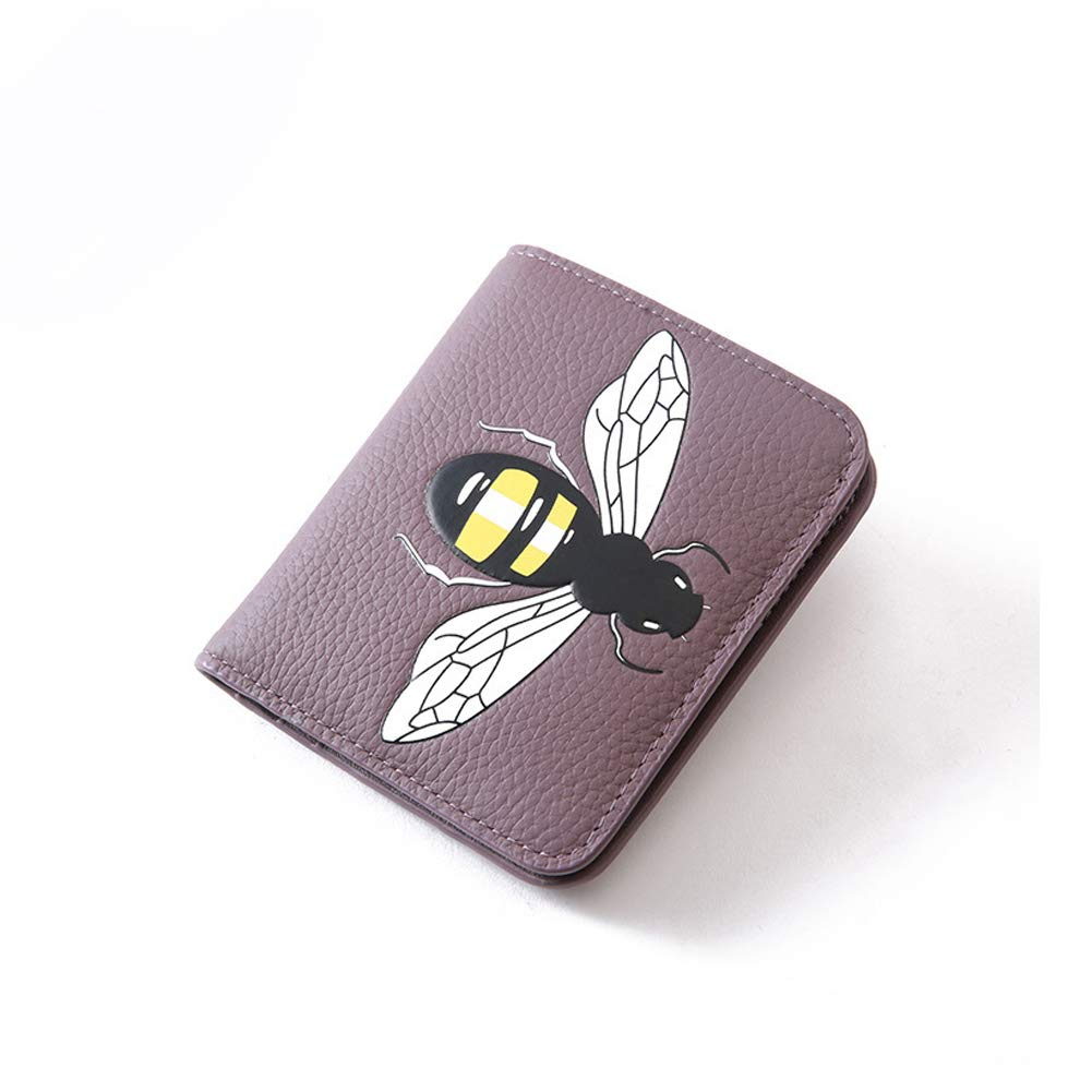 Purple Women's Wallet Leather Tote Wallet Storage Bag Large Phone Checkbook Holder Zipper Pocket