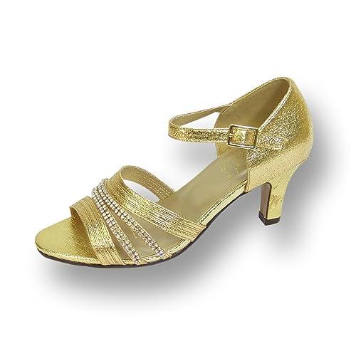 Amazon Com Floral Fic Eryn Women Wide Width Evening Dress Shoe For