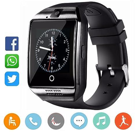 CatShin Reloj Inteligente-Bluetooth Smartwatch Android Samsung Sony IOS Con Ranura para tarjeta SIM Reloj