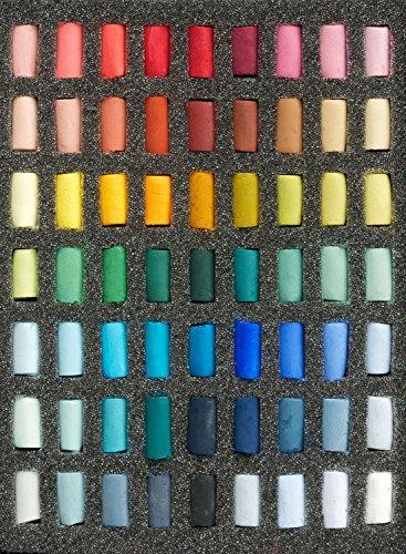 Unison Soft Pastels : Set of 63 Half Sticks by Unison