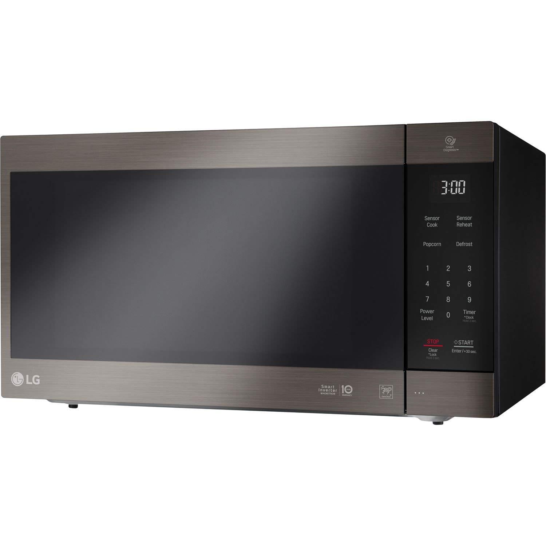 LG 2.0 Cu. Ft. NeoChef Countertop Microwave (LMC2075BD) Stainless Steel/Black (Renewed) by LG (Image #1)