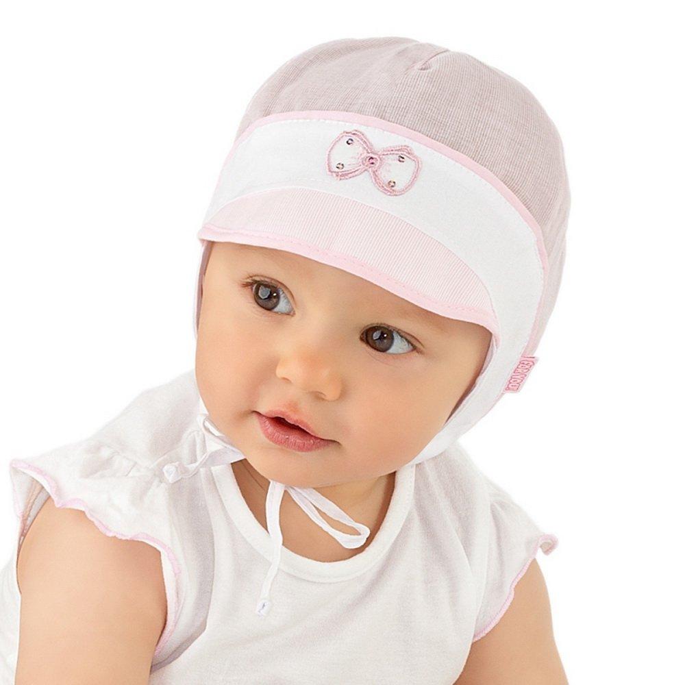 37559da41b1f Baby Girl Boy Sun Hat Summer Beach Holiday Peak Cap 0 2 3 6 9 12 months 100% Cotton Hat (38cm 0-2 mths, Pink): Amazon.co.uk: Baby