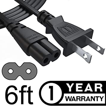 6ft Universal Power Cord for Laptop Notebook /& Portable Electronics