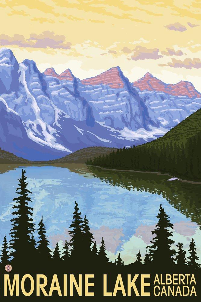 モレーン湖、アルバータ、カナダ 36 x 54 Giclee Print LANT-18821-36x54 36 x 54 Giclee Print  B017E9UKUY