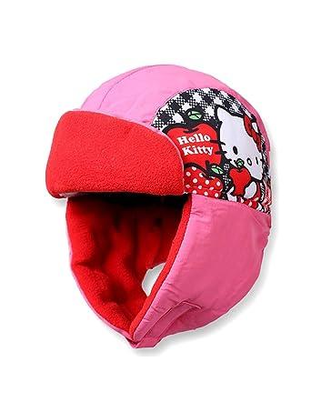 a95f7a49d679 Hello kitty Bonnet - Chapka enfant fille Rose de 3 à 9ans  Amazon.fr   Vêtements et accessoires