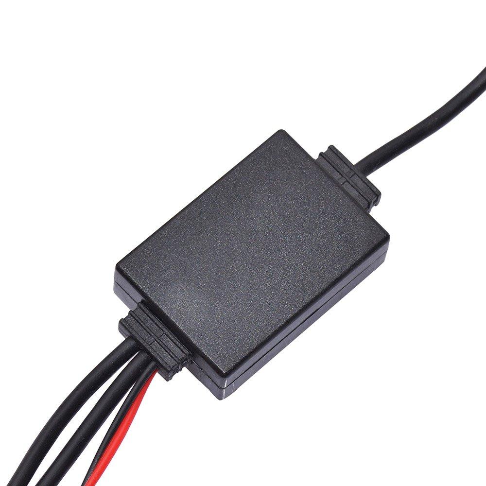 Eightwood Antenna DAB DAB Splitter Adattatore SMB Amplificatore del segnale dellantenna AM//FM DIN per autoradio Blaupunkt TechniSat Pioneer Sony Kenwood Alpine