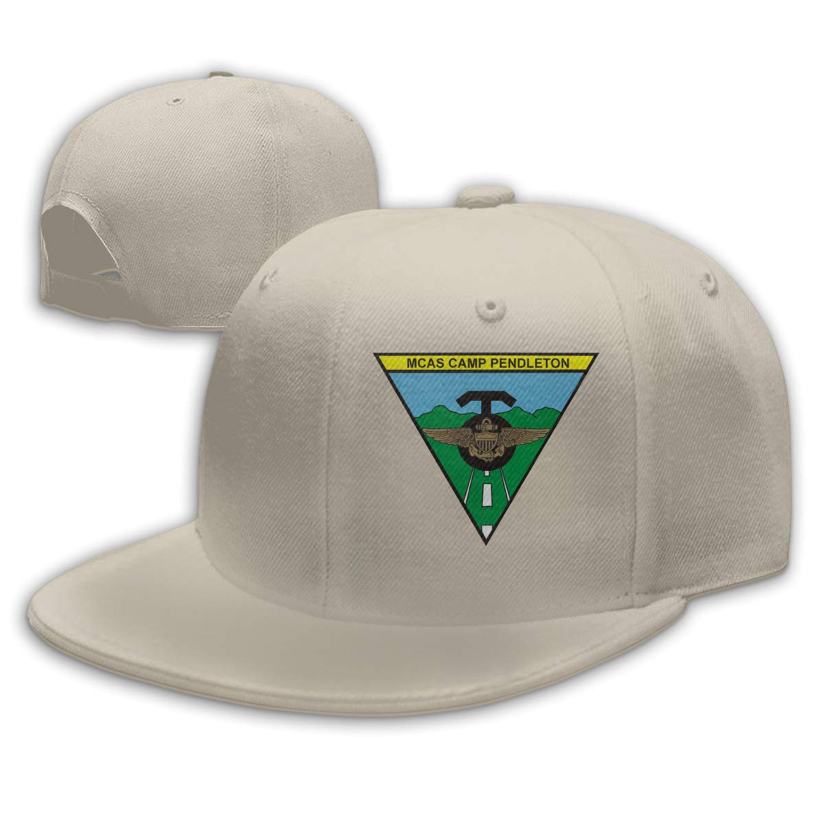 bae6c17775a Marine Corps Air Station Camp Pendleton Logo Adjustable Baseball Cap Flat  Bill Cap Flat Brim Hat at Amazon Men s Clothing store