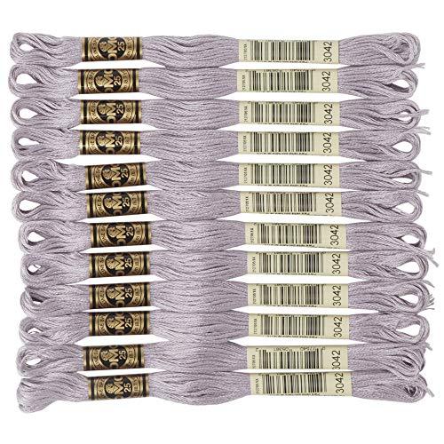 DMC 6-Strand Embroidery Cotton Floss, Light Antique Violet (Dmc Floss Antique)