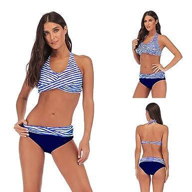 4f44e3efc69 2Psc Women's Bikini Swimwear Push Up Padded Gather with Color Block Swimsuit  Sets Hot Beachwear