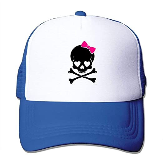 31010c5371f Image Unavailable. Image not available for. Color  P.Scott Girl Irish  Pirate Skull Mesh Unisex Fitted Trucker Baseball Hat