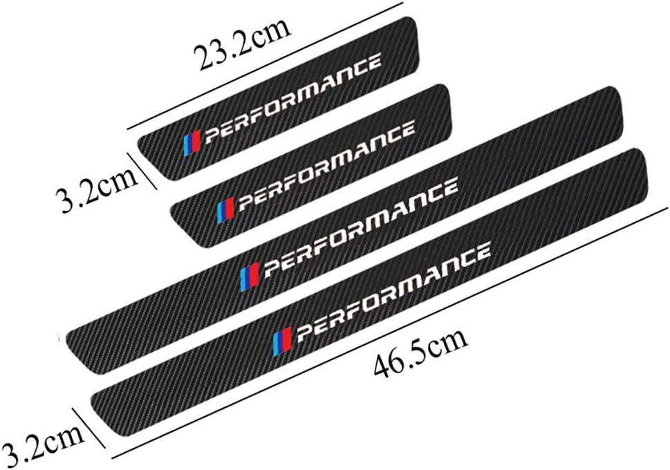 Protettore Battitacco Pedale Soglia Graffi Adesivo Decorativo Accessori YCGLX 4 Pezzi per BMW E30 E36 E39 E46 E60 E87 E90 F10 F20 F30 Fibra di Carbonio Auto Davanzale Portiera