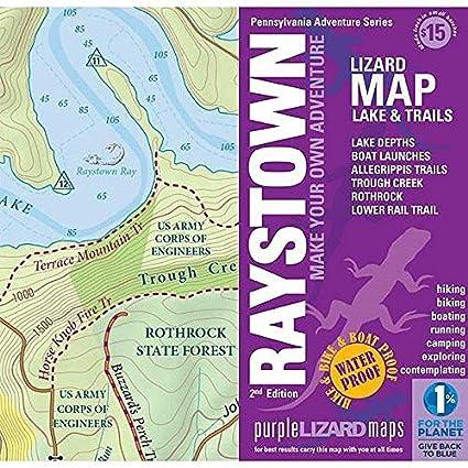 Amazon.com: Raystown Lake Trail Map - PURPLE: Industrial ...