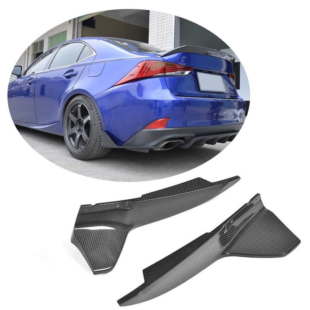 MCARCAR KIT Fits Lexus IS300 IS350 IS F Sport Sedan | 2017 2018 Factory Carbon Fiber Rear Side Flaps Rear Bumper Splitter Cupwings Flaps XF-LEXUS/IS&F SPORT-Rear Diffuser
